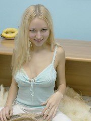 Innocent Anne Eating A Big Banana Naked - Picture 8