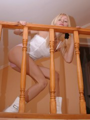 Anne Takes Off Her Tight Pink Panties - Picture 8