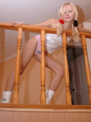 Anne Takes Off Her Tight Pink Panties - Picture 9